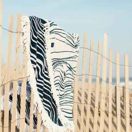 Elyse Maguire Roundabout Beach Towel - Nauset Navy