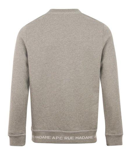A.P.C. Austin Crewneck Sweater - Grey