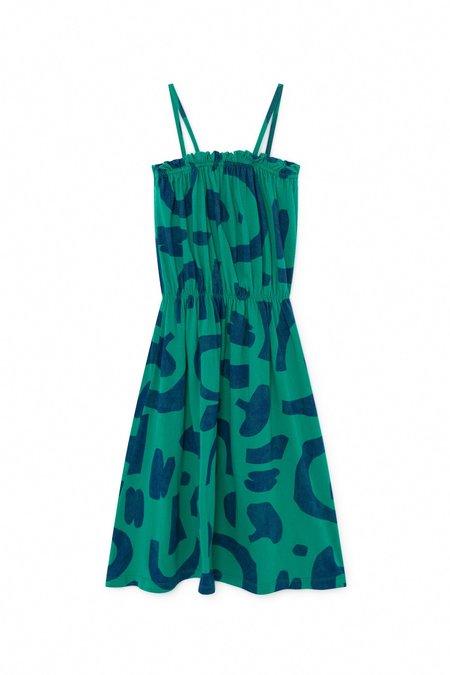 Kids Bobo Choses Abstract Jersey Dress - Green