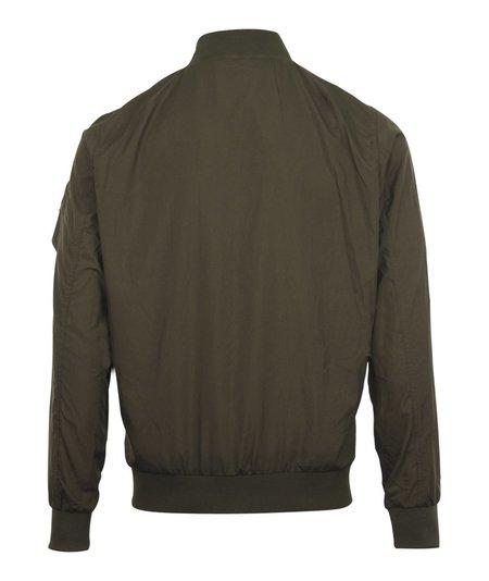 Busyboi Full Zip Lightweight Bomber Jacket - Khaki