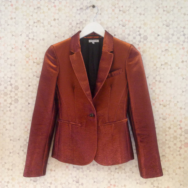 Darling Vintage Goldness Fitted Blazer