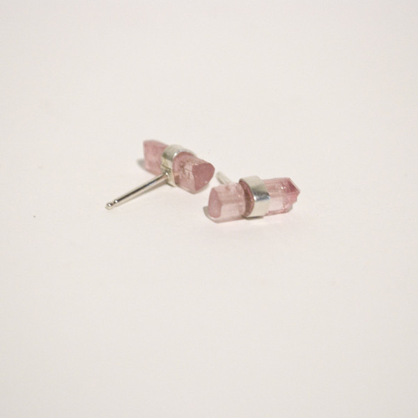 BLTN Crystal Bar Studs in Sterling Silver - Various Stones