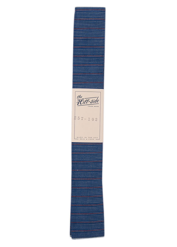 The Hill-Side - Indigo / Red Stripe Tie