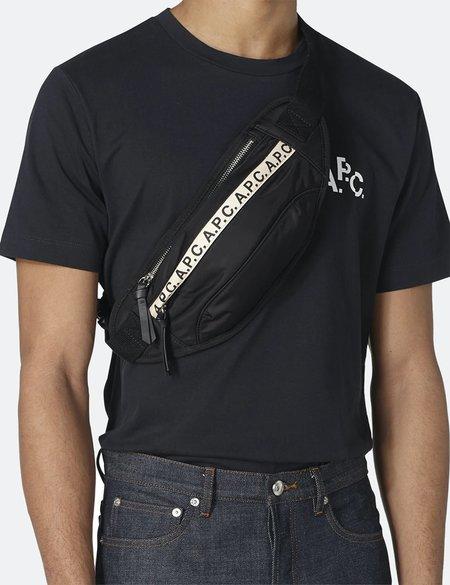 A.P.C. Repeat Hip Bag - Black