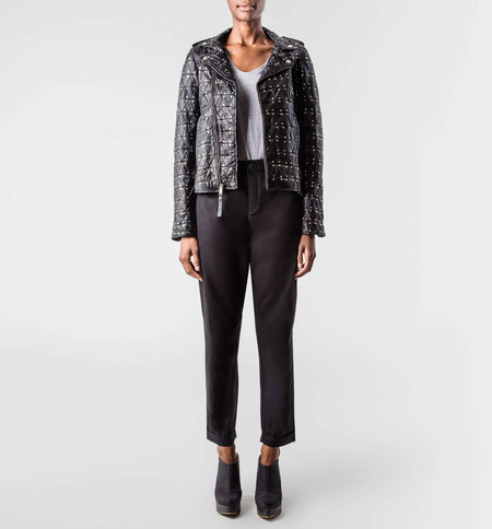 The Sway Bondi Biker Jacket Silver