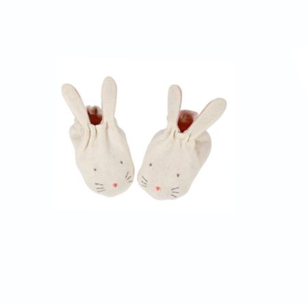Kids meri meri Peach Baby Bunny Bonnet & Bootie Set