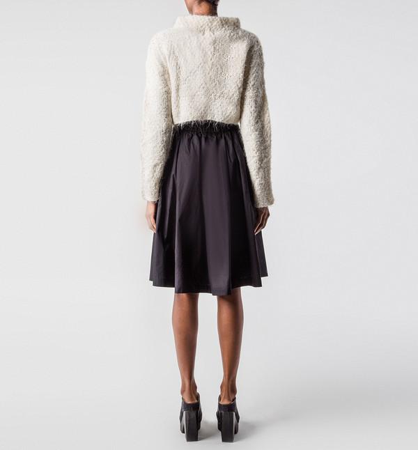VOZ Ivory Crop Sweater