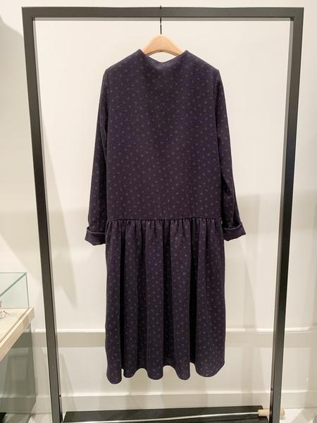 a punto b button front drop waist wool dress - polka dot