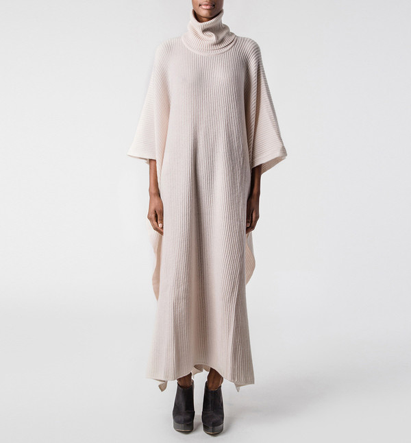 Ryan Roche Medium Poncho Champagne