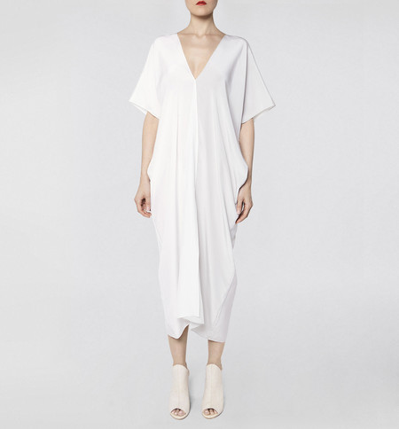VOZ Two Panel Cream Dress