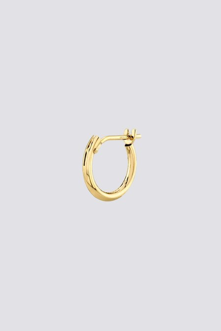 Gabriela Artigas Small Hoop Earrings with Hinge - Gold
