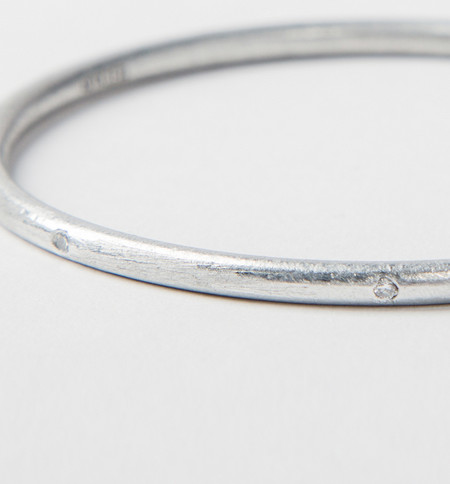 Article 22 White Diamond Bangle