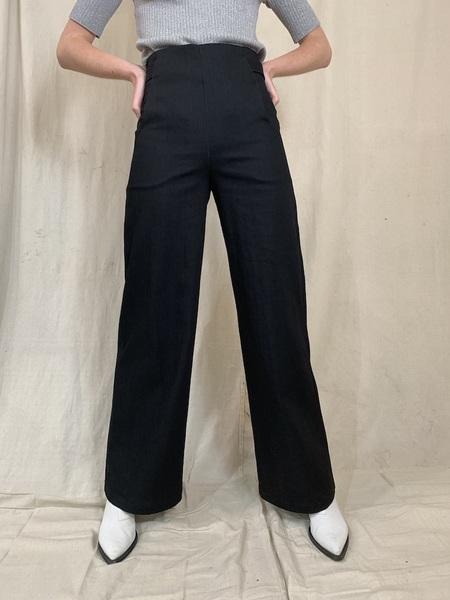 Anderst Milo Wide Leg Denim Pants - Black