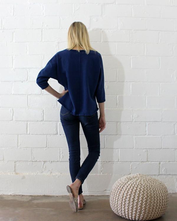 Esby Apparel Indigo Sweater Knit