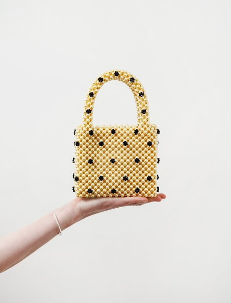 Shrimps Dolly Bag - Yellow/Black Flowers