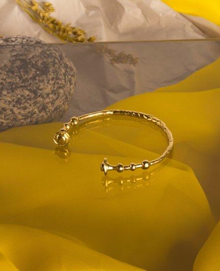 Ora-C WREN Bracelt - brass