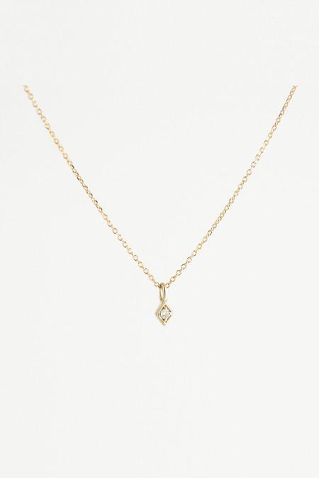Emi Grannis Golden Kite Necklace - White Diamond