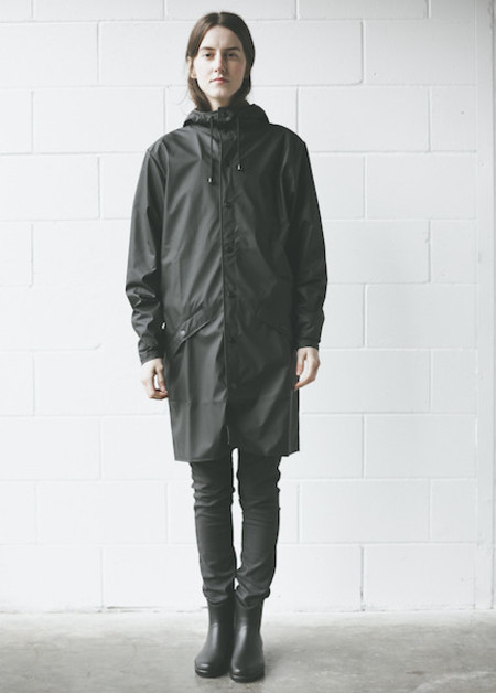 Rains - Long Jacket in Black