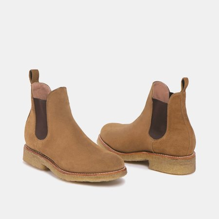 The CANO Shoe ARMANDO Chelsea Boot - Natural Beige Suede