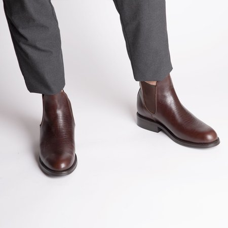 The CANO Shoe PEDRO Chelsea Tire Boot - Chocolate
