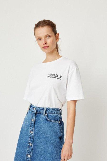 Wood Wood Info T-Shirt -  White