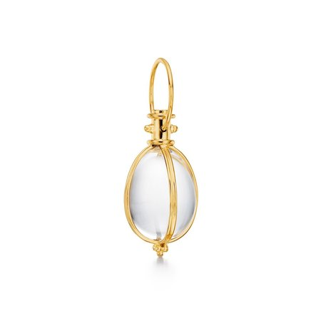 Temple St. Clair Classic Amulet - 18K/Natural Rock Crystal
