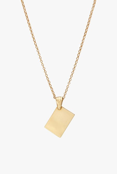 Fie Isolde Alfa Note Necklace Big Chain - 14k yellow gold