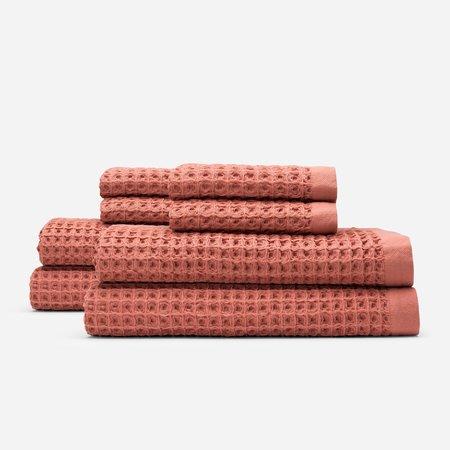 Slowtide Guild Waffle Four Piece Bundle Towel - Terracotta