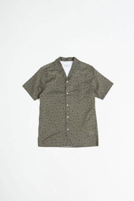 Officine Generale Dario Shirt - Shibori Flower Olive/Grey