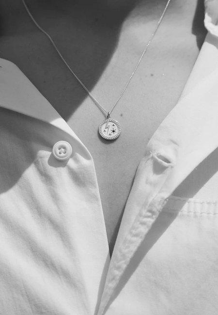 Meadowlark Amulet Strength Necklace - silver/blue sapphire