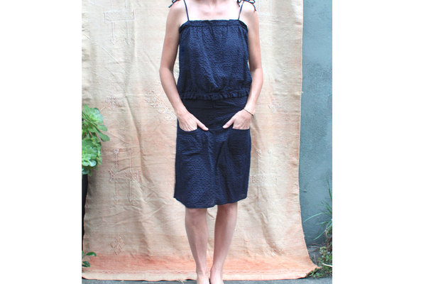 Pietsie Patmos Top and Skirt in Blue Check  (SET)