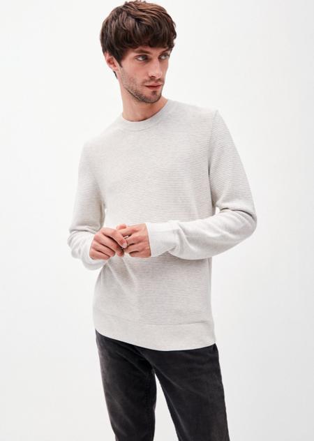 Armedangels Aatu GOTS Knit Sweater - Ecru Melange