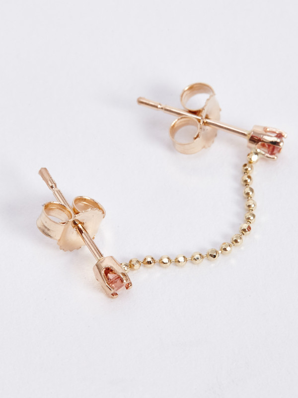 WINDEN LAIDLEY EARRING / 14K & SUNSTONE
