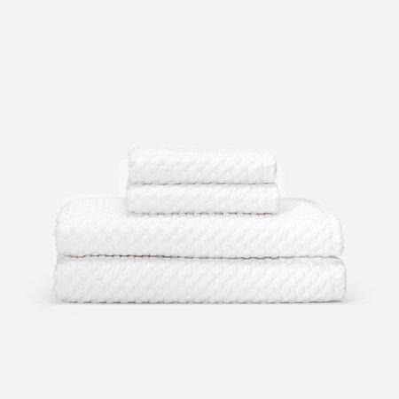 Slowtide Clive Two Piece Bundle Towel - White