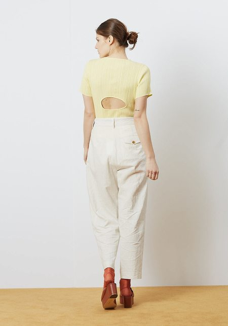 Lorod Tee with Cut Out - pollen