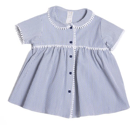 Kids Tia Cibani Antoinette Baby Doll Blouse and Bloomers Set - Blue