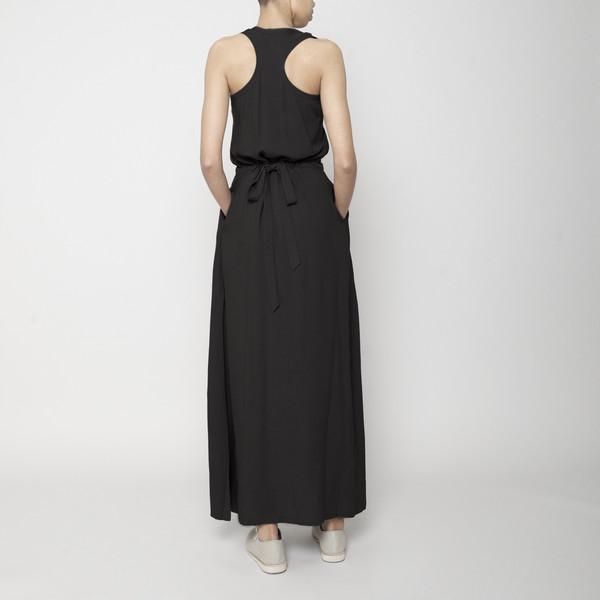 7115 by Szeki Racerback Maxi Dress- Black FW16