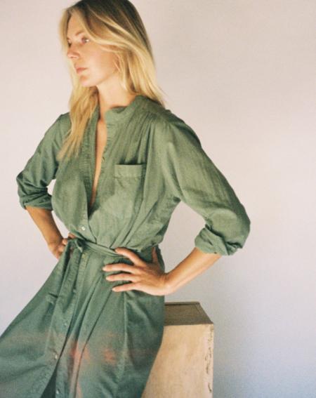 Cali Dreaming Shirt Dress - Army Green