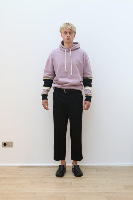 JW ANDERSON Wool Gabardine Belted Tailored Trouser - Black