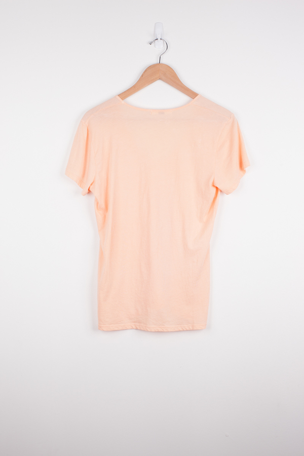 Fitted U Tee in Apricot