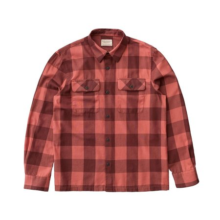 Nudie Jeans Sten Block Check Shirt - Dusty Red