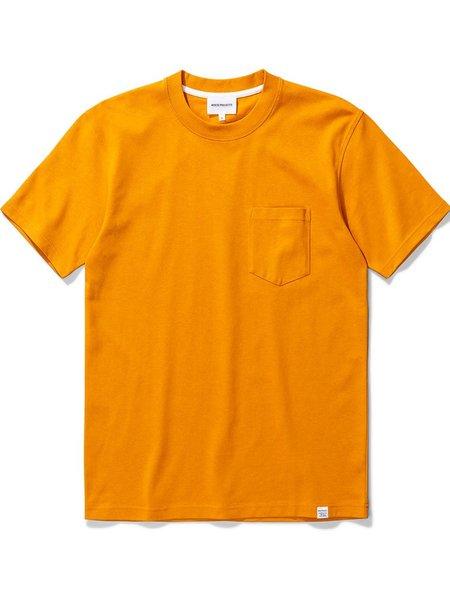 Norse Projects Johannes Pocket T-Shirt - Cadmium Orange