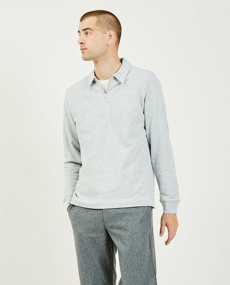 Norse Projects Jorn Half Zip Sweatshirt - Gray