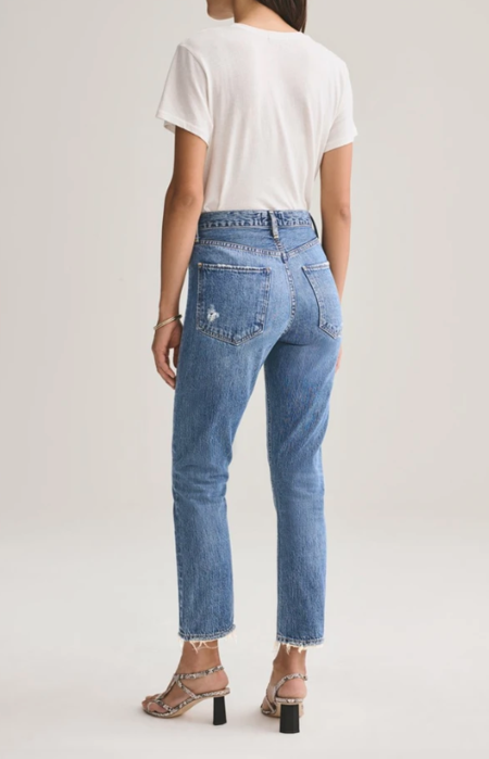 AGOLDE Riley Hi-Rise Straight Crop Jean - Frequency