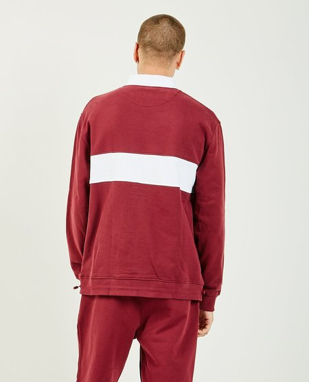 MALBON GOLF x Lyle & Scott Collar Sweater - Burgundy