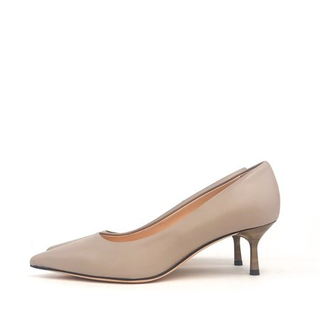 AGL leather pointy toe Pump - Nude