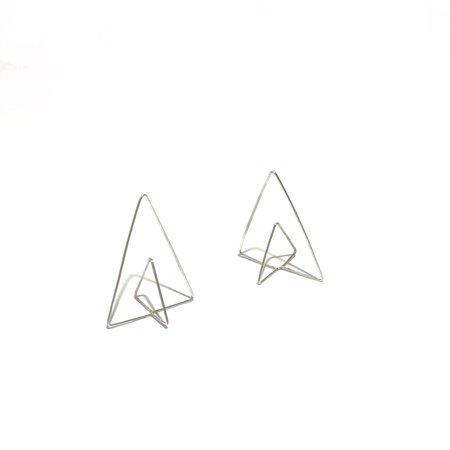 Kari Woo Pyramid Hoops - Sterling Silver