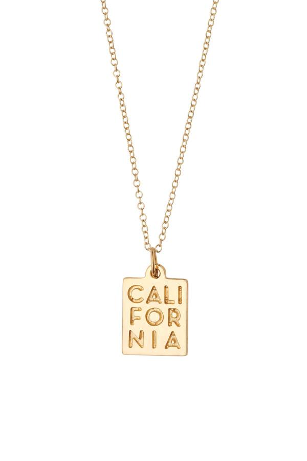"Honey & Bloom ""CALIFORNIA"" Pendant Necklace 14k Yellow Gold"