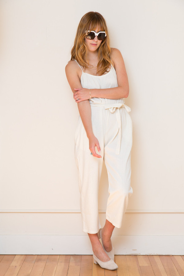 Lindsay Robinson Sol Jumpsuit in Cream