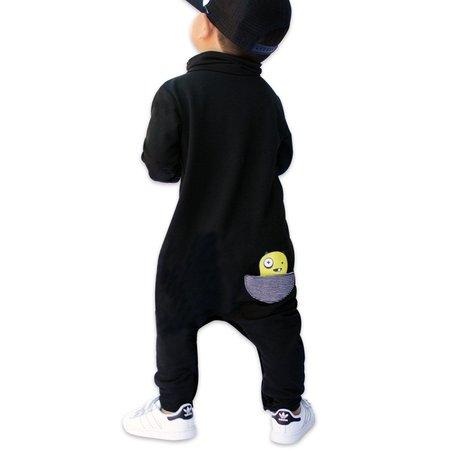 Kids Bash + Sass Maverick Romper - Black